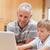 портрет · мальчика · отец · ноутбук · кухне · интернет - Сток-фото © wavebreak_media