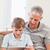 портрет · отцом · сына · гостиной · семьи · дома - Сток-фото © wavebreak_media