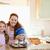 madre · junto · ninos · cookies · cocina · mujer - foto stock © wavebreak_media