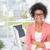 africaine · femme · d'affaires · oeil · belle · rose - photo stock © wavebreak_media