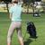 golflabda · nő · tart · klub · golf · jókedv - stock fotó © wavebreak_media