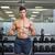 sem · camisa · muscular · homem · barbell · ginásio - foto stock © wavebreak_media