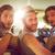 amigos · estrada · trio · carro · homem - foto stock © wavebreak_media