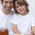 portrait of dad and son having breakfast together stock photo © wavebreak_media