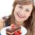 nő · tart · darab · csokoládés · sütemény · otthon · étel - stock fotó © wavebreak_media