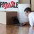 красивой · человека · рабочих · ноутбука · полу - Сток-фото © wavebreak_media
