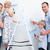 happy family painting a room with brushes in new house stock photo © wavebreak_media