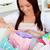 vrouw · home · gelukkig · jonge · vrouw · sofa - stockfoto © wavebreak_media