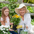 grandmother with her granddaughter working in the garden stock photo © wavebreak_media