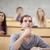 poważny · studentów · słuchania · wykład · kamery · skupić - zdjęcia stock © wavebreak_media
