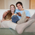 relaxed young couple watching television in their living room stock photo © wavebreak_media