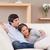 birlikte · kanepe · sevmek · mutlu · ev - stok fotoğraf © wavebreak_media