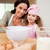 mother and daughter preparing dough together stock photo © wavebreak_media