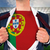businessman opening shirt to reveal portugal flag stock photo © wavebreak_media