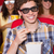 gelukkig · vrienden · kijken · film · 3D · theater - stockfoto © wavebreak_media