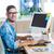 casual · empresario · tableta · escritorio · oficina · empresa - foto stock © wavebreak_media