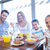 счастливая · семья · завтрак · вместе · утра · домой · кухне - Сток-фото © wavebreak_media