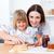 özenli · anne · yardım · kız · kahvaltı · mutfak - stok fotoğraf © wavebreak_media