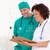 agradable · femenino · médico · cirujano · papel - foto stock © wavebreak_media