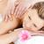 fiatal · nő · élvezi · hát · masszázs · fürdő · központ - stock fotó © wavebreak_media