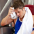 tired man using a bench press stock photo © wavebreak_media