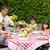 happy family eating in the garden stock photo © wavebreak_media