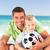 feliz · padre · jugando · fútbol · hijo · playa - foto stock © wavebreak_media