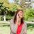 telefon · nő · nevet · park · beszél · okostelefon - stock fotó © wavebreak_media