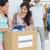 mensen · kleding · schenking · digitale · tablet · groep - stockfoto © wavebreak_media