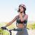 fit woman going for bike ride drinking water stock photo © wavebreak_media