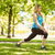 fit blonde stretching on the grass stock photo © wavebreak_media