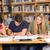 főiskola · diákok · házi · feladat · könyvtár · csoport · férfi - stock fotó © wavebreak_media