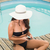 красивая · женщина · Бикини · расслабляющая · Бассейн · воды · телефон - Сток-фото © wavebreak_media
