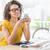 mujer · de · negocios · oficina · teléfono · tecnología - foto stock © wavebreak_media
