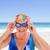 kıdemli · kadın · mayo · plaj · kız · gülümseme - stok fotoğraf © wavebreak_media