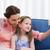 famille · séance · salon · appareil · photo · numérique · souriant · fille - photo stock © wavebreak_media