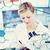 jonge · geconcentreerde · vrouw · wetenschapper · werken · microscoop - stockfoto © wavebreak_media