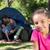 mutlu · aile · iki · çocuklar · oturma · çim · yeşil · ot - stok fotoğraf © wavebreak_media
