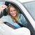 jeune · femme · souriant · clé · voiture · femme - photo stock © wavebreak_media