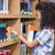 öğrenci · kitap · kitaplık · kütüphane · arkadaş - stok fotoğraf © wavebreak_media