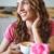 caffè · primo · piano · ritratto · bella · donna - foto d'archivio © wavebreak_media