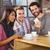 man · smartphone · drinken · koffie · coffeeshop - stockfoto © wavebreak_media