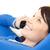 kobieta · telefonu · komórkowego · sofa · telefonu · mówić · młodych - zdjęcia stock © wavebreak_media