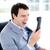 woedend · jonge · zakenman · telefoon · kantoor - stockfoto © wavebreak_media