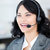 blijde · zakenvrouw · hoofdtelefoon · praten · klant - stockfoto © wavebreak_media
