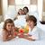 счастливая · семья · завтрак · кровать · женщину · кофе · счастливым - Сток-фото © wavebreak_media
