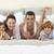 family lying in bed with pyjamas stock photo © wavebreak_media