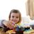 девочку · еды · десерта · Cute · пластина · вилка - Сток-фото © wavebreak_media