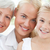 retrato · alegre · família · olhando · câmera · casa - foto stock © wavebreak_media