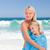 mère · fille · serviette · eau · fille · main - photo stock © wavebreak_media